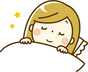 早寝早起きで美肌つくり 睡眠の絵