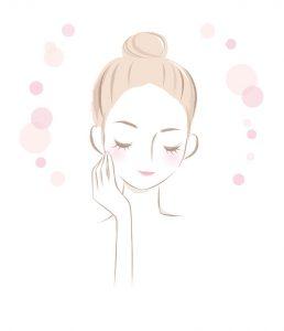 女性ホルモンバランスを整えて美肌を作るのイメージ