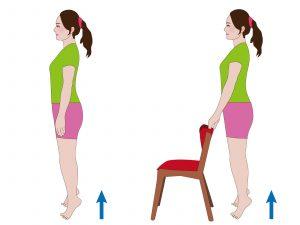 足を鍛える 成長ホルモン 健康美人 若返る つま先立ち運動