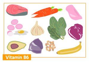 美髪 おすすめ栄養素 食べ物 ビタミンB6