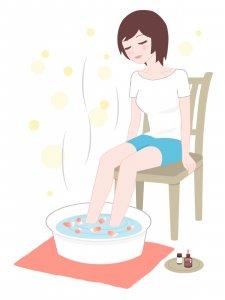 50代女性 メディシナルハーブ 更年期症状の改善 美肌 足湯