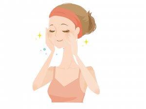 50代女性 乾燥肌 水洗顔