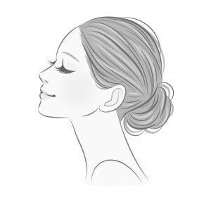 綺麗な女性の横顔