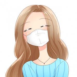 マスクをした女性のイメージ