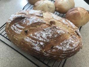50代女性が焼いた 酒粕入りのパン