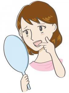 50代女性 舌ガン 口腔ガン 女性の絵