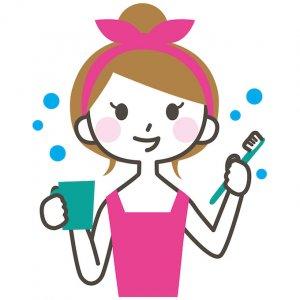 50代女性 虫歯 歯周病 歯磨きのイメージ