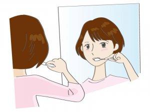50代の女性の歯磨き