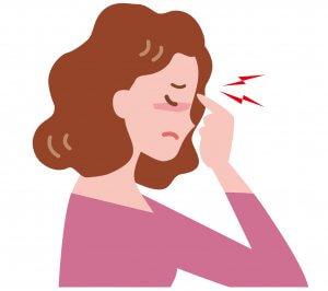 50代女性 疲れ目 眼精疲労の女性のイメージ