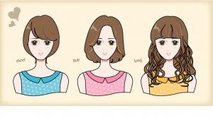 前髪とイメージの違い