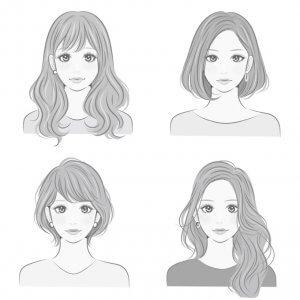 髪の毛の長さとイメージの違い