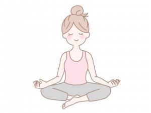 ヨガ 瞑想する絵