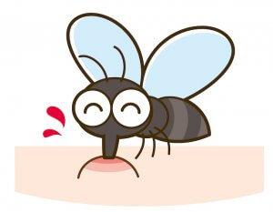 蚊が肌を指している絵
